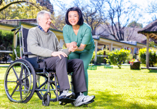 nurse with elder patient on wheelchair