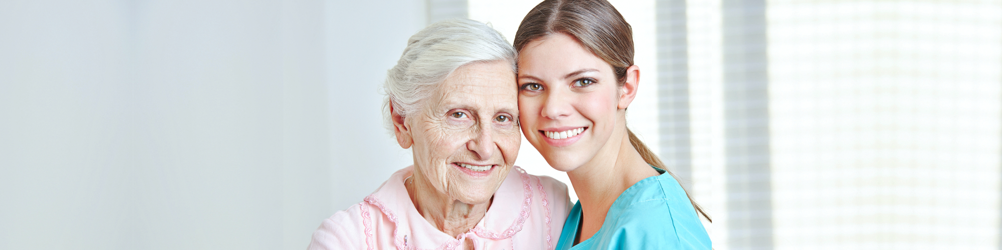 caregiver with senior woman
